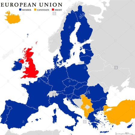european-union-brexit-political-map-with-european-union-member-states